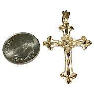 14 K Yellow Gold Ornate Cross~ Religious