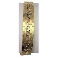 14 K Tri Color Brushed Gold Bracelet