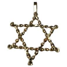 Vintage 14 k Gold Star of David Pendant