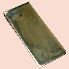 14 K Solid Yellow Gold Engrave able Money Clip