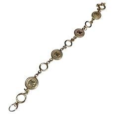 950 Silver Teddy Bear Link Bracelet