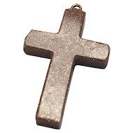Unisex Gold stone Crucifix Pendant