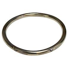 Vintage Mexico Sterling Silver Hand Made Bangle Bracelet