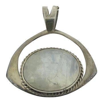 Sterling Silver Labradorite Large Pendant