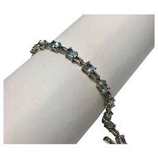 Sterling Silver 8.55 CTW Topaz Bracelet