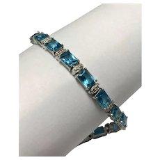 Sterling Silver 21.25 CTW Topaz Bracelet