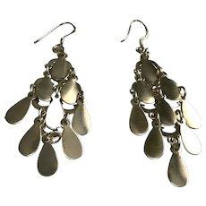 Sterling Silver Pierced Chandelier Earrings