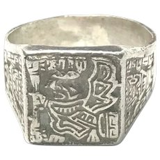 Peruvian Sterling Silver Ring.