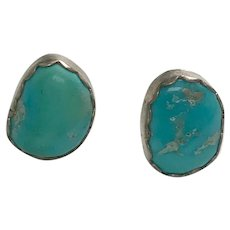 Sterling Silver Pierced Post Turquoise Studs