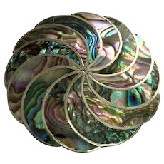 Mexico Sterling Silver Abalone Pendant/Pin