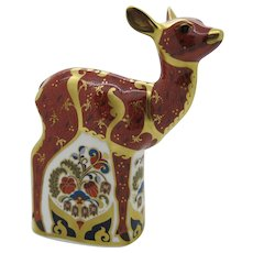 """Royal Crown Derby """"Fawn"""" Paperweight 22ct Gold  Boxed  Free Shipping"""