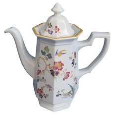 Wedgwood Devon Rose Octagonal Coffee Pot Georgetown Collection - Red Tag Sale Item