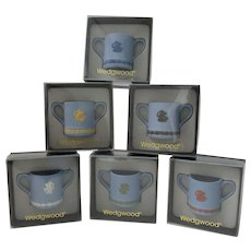 Wedgwood Jasper Guild Of Specialist Retailers Mugs Full Set Of Miniature Loving Cups Jasperware