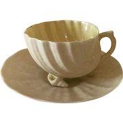 Belleek Neptune Cup and Saucer