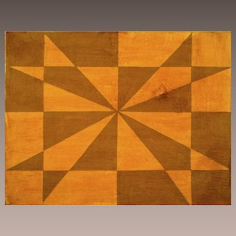 Original Aluisio Carvao Geometric Painting, signed/dated/titled on back