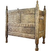 Beautiful Hand Carved Very Large Swat Valley Dowry Chest late 18th/early 19th Century