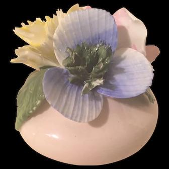 Vintage English Bone China Floral Figurine