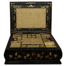 Antique Sewing Box, England 1847