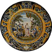 Antique Italian Majolica Wall Plate