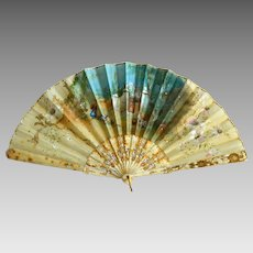 19th C Hand Painted French Fan