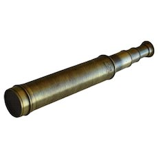 Early 1900s Three Draw Brass Telescope