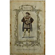 Henry VIII, Mountagues History of England Engraving, London, 1771