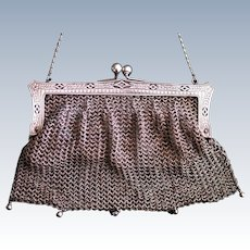 Vintage Ladies' Metal  Purse, German 1900s