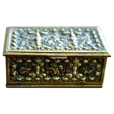 Victorian Bronze Trinket Box