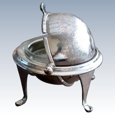 English Silver Plated Rolling Dome Breakfast or Buffet Server, Mappin & Webb, 1900s