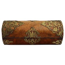 19th Century Burl Walnut Tea Caddy