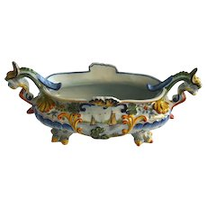19th C French Faience Desvres Jardiniere - Planter