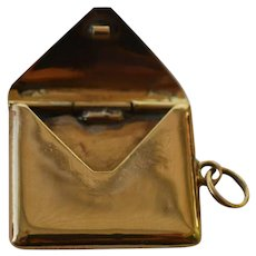 A very Fine Victorian Gold Coloured Envelope-Stamp Holder-Photo Holder Chatelaine