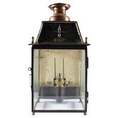 Vintage Railroad Oil Lantern, Chemins 4735, movement Le Garlaret