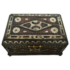 Vintage  Berber Alpaca and Wood Treasure Chest
