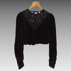 Vintage Black Ladies' Blouse