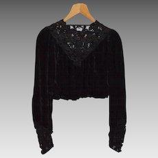 Vintage Black Ladies' Blouse