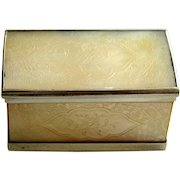 18th C French Mother of Pearl & Silver Candy Box