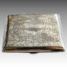 Edward VIII Floral Silver Gilt Cigarette Case, Birmingham 1936