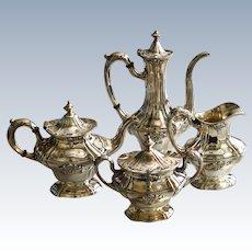 1907 Gorham Silver Plate 4 piece Tea & Cofee Set