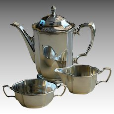 Vintage Swedish New Silver (Silver Plate) Coffee Set