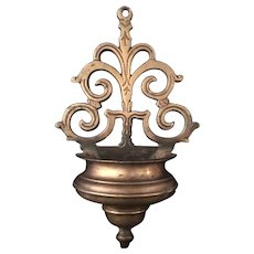 17th Century Bronze Holy Water Font