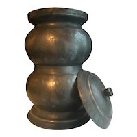 Antique French Pewter Apothecary Jar