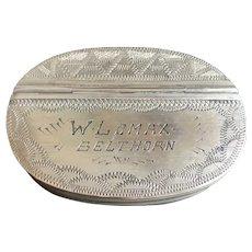 Antique 18th Century English Oblong Snuff Box