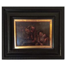 17th Century Dutch Old Master Oil Painting, Framed