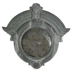 19th Century French Zinc Oeil De Boeuf, Bull's Eye Dormer Window Mirror