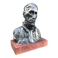 Sculpture, Alva Museum Replica of Bust by French Artist, Honore Daumier