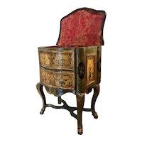 """Extremely Rare Italian Rococo """"Lacca Comodino"""" 17th C./ 18th C. Venice"""