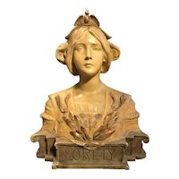 Austrian Goldscheider Terracotta Bust, Circa 1900