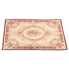 French Aubusson Rug 19th Century Napoleon III