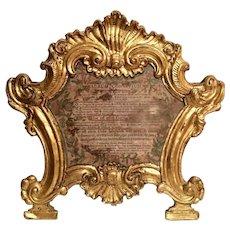 Baroque Ecclesiastical Carta Gloria, 18th Century Venetian Museum Piece